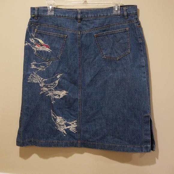 2f59aa9537 Kenzo Dresses & Skirts - KENZO bird embroidery denim skirt knee length